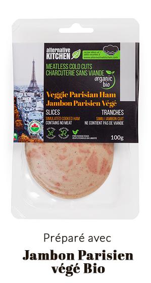 préparé avec Jambon Parisien végé Bio