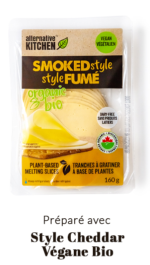 préparé avec Alternative Kitchen Cheddar Végane Bio
