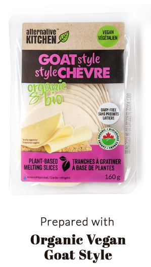 prepared with Organic Vegan Goat Cheese