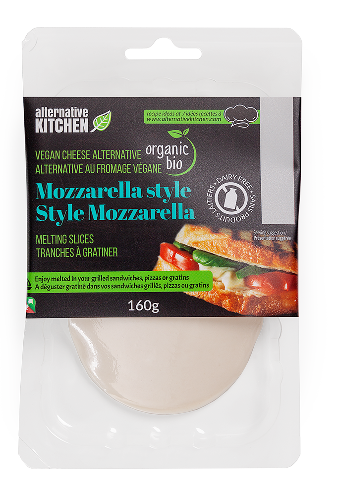 Tranches a gratiner style Mozzarella végétalien bio
