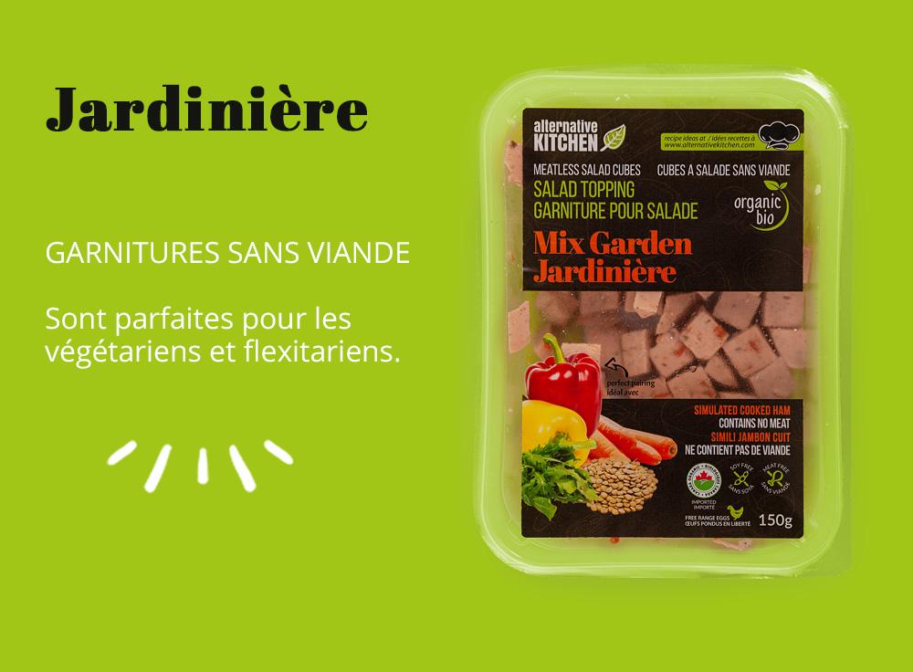 Garnitures sans viande bio Jardinière