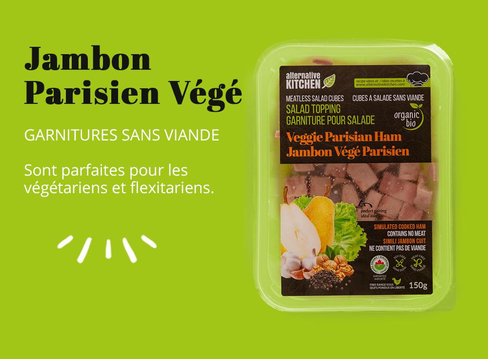 Garnitures sans viande bio Parisien