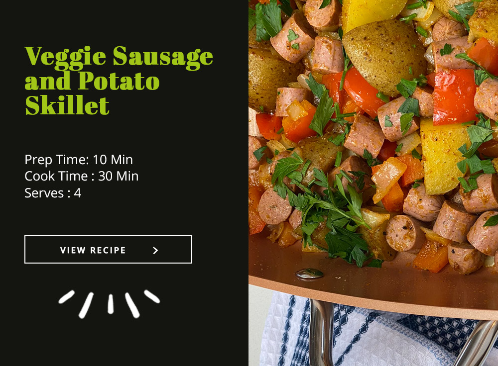 Veggie Sausage and Potato Skillet