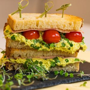 Veggie Mortadelle & Curry Tofunaise Sandwich