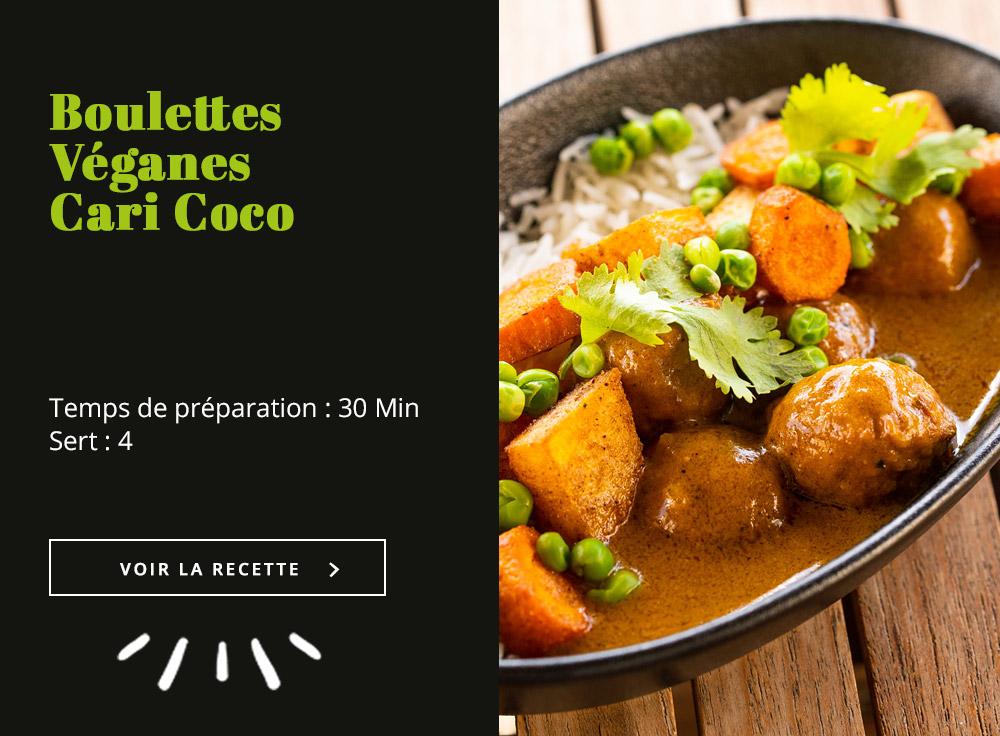 Boulettes Véganes Cari Coco