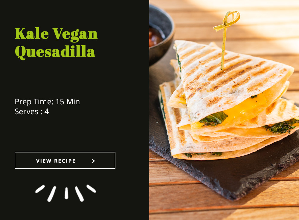 Kale Vegan Quesadilla