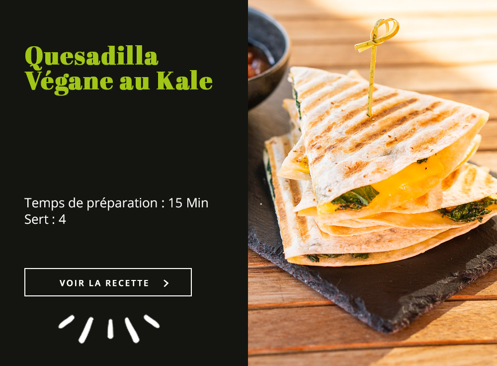 Quesadilla végane au Kale