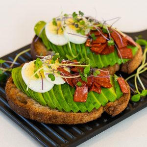 Avocado, Egg & Veggie Salami Toast