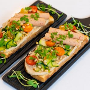 Veggie Ham Provence-Style Toast