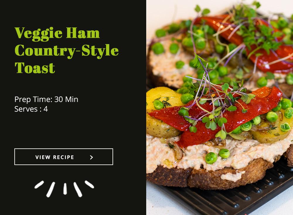 Veggie Ham Country-Style Toast