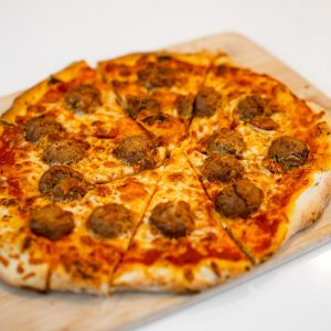 Vegan Meatball Pizza