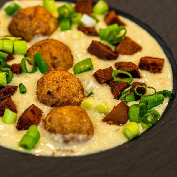 recipe-main-Corn-Chowder-Crispy-Vegan-Meatballs