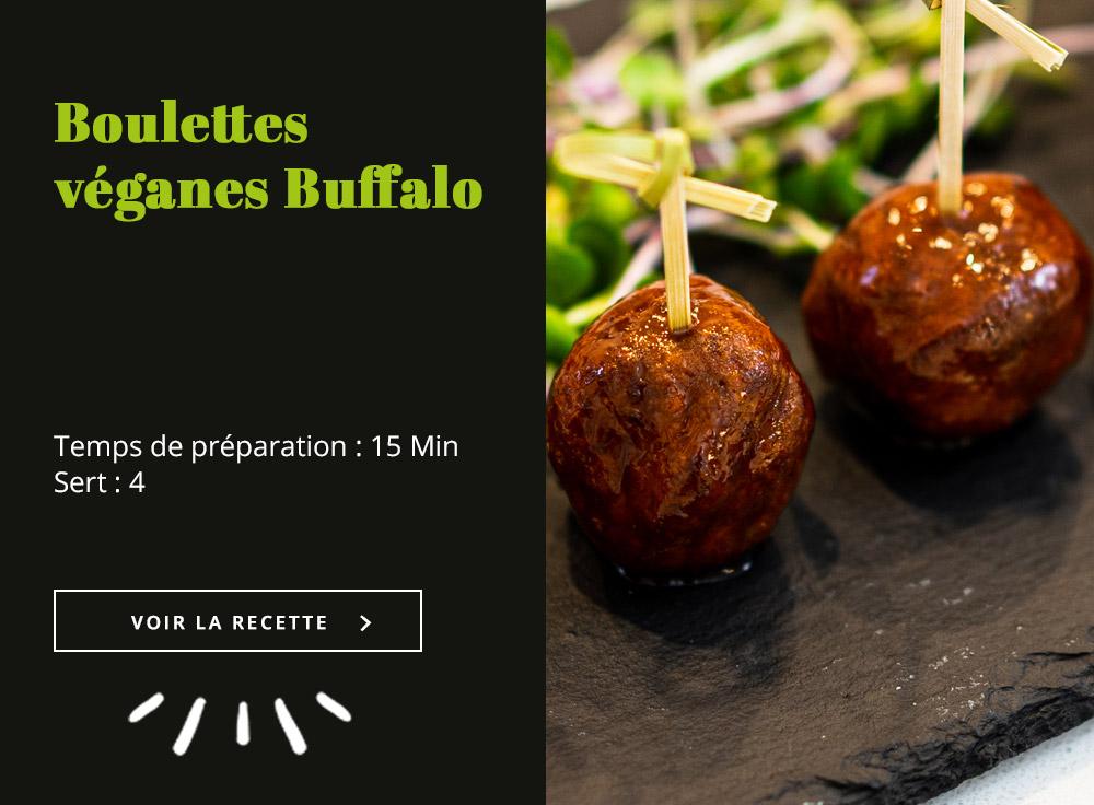 Boulettes véganes Buffalo