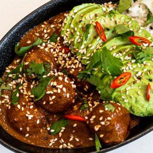 Vegan Meatballs Mole