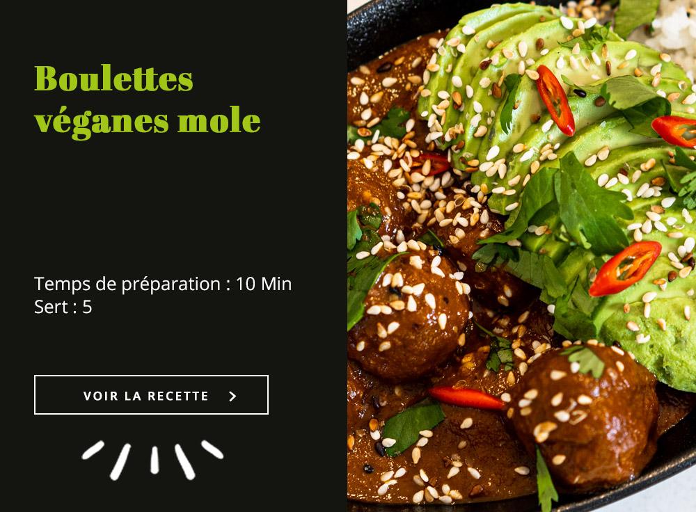 Boulettes Véganes Mole